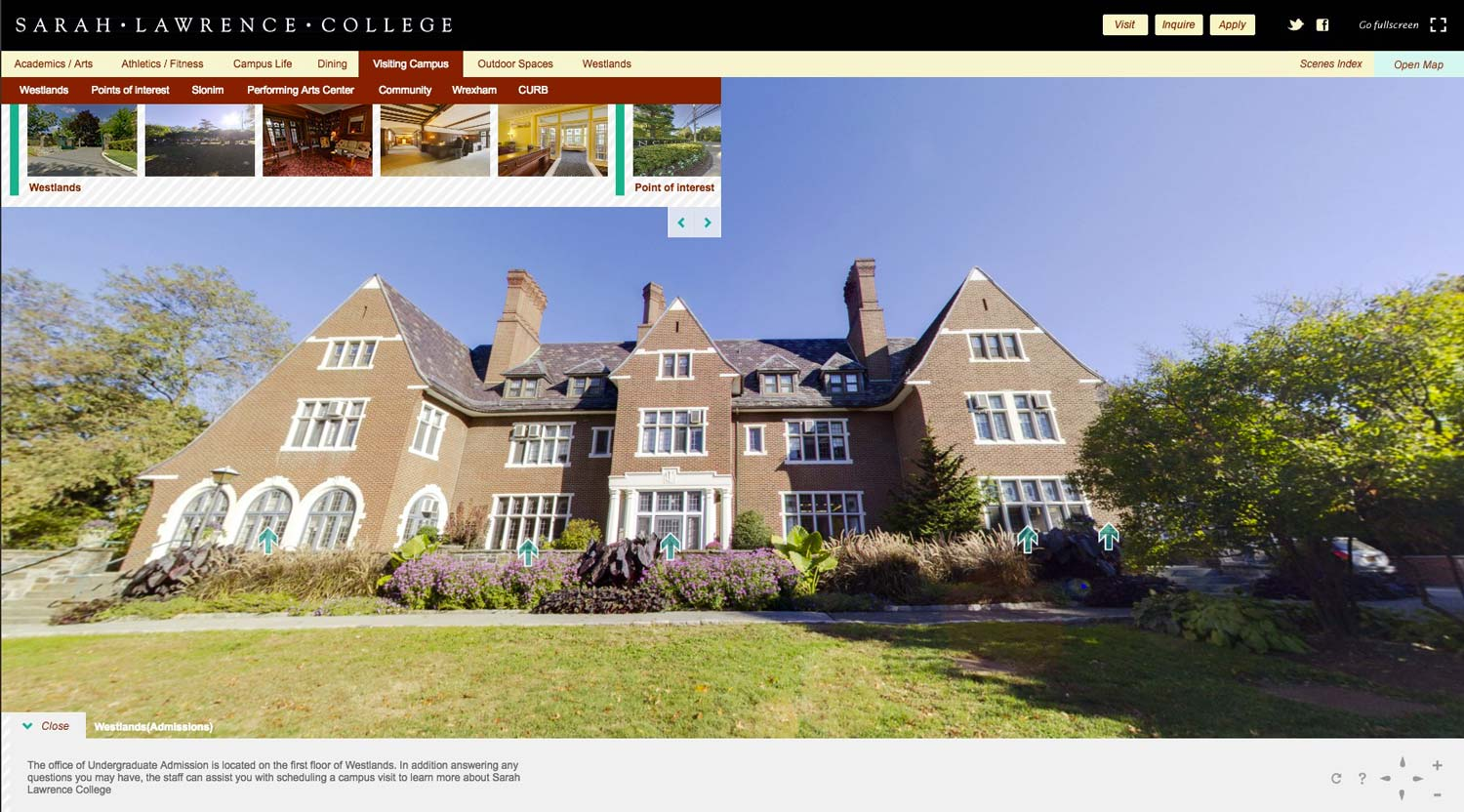 Sarah Lawrence College 360 Virtual Tour