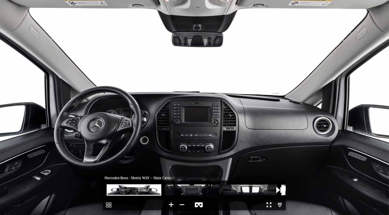 Metris Van, Car interior view