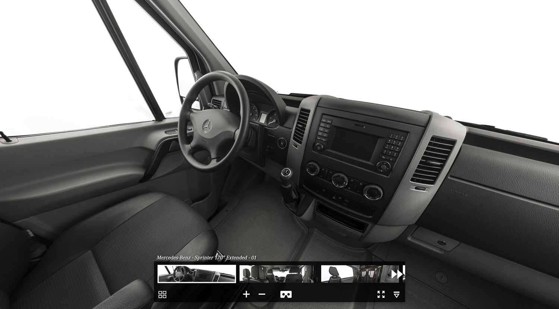 Sprinter Van, Car interior view.